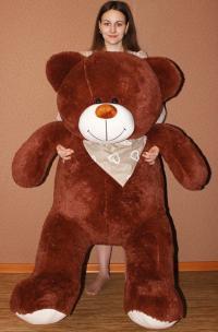 Плюшевый медведь 170 см коричневый