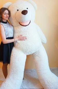 Большой плюшевый медведь 250 см белый
