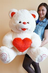 Плюшевый мишка 150 см с сердцем