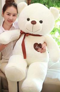 Плюшевый медведь 140 см белый