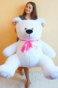 Плюшевый медведь 150 см белый