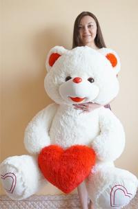 Плюшевый медведь 165 см с сердцем