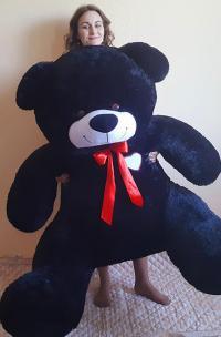 Плюшевый медведь 190 см Черный