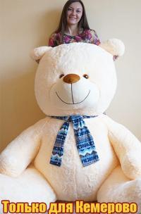 Плюшевый медведь 240 см чайная роза