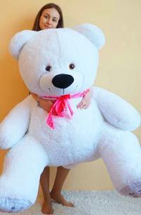 Большой плюшевый медведь 170 с белый