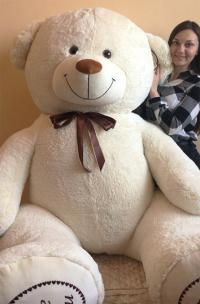 Гигантский плюшевый медведь 3 метра белый