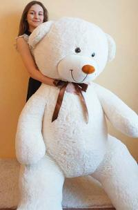 Большой плюшевый медведь 230 см белый