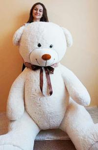 Огромный плюшевый медведь 210 см белый