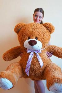 Плюшевый медведь 140 см Я тебя люблю