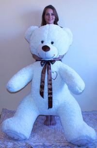 Плюшевый медведь 180 см белый