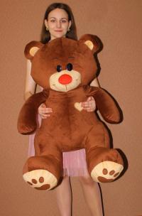 Плюшевый мишка коричневый 130 см