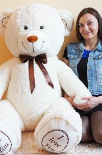 Плюшевый медведь 170 см белый