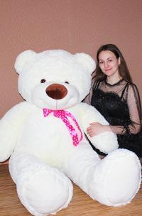 Плюшевый медведь большой 180 см белый