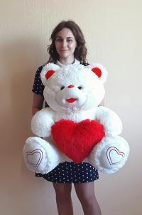 Плюшевый мишка 100 см с сердцем
