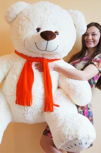 Плюшевый медведь 190 см белый
