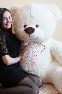 Плюшевый медведь 190 см с сердцем