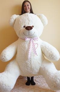 Плюшевый медведь 200 см с сердцем