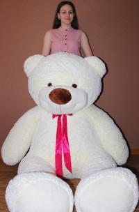 Огромный плюшевый медведь 220 см с бантиком