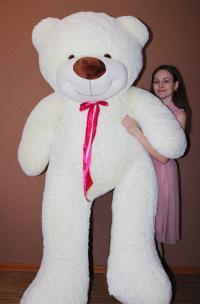 Большой плюшевый медведь 220 см с бантом