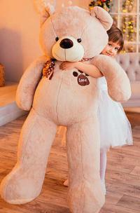 Плюшевый медведь 180 см кремовый