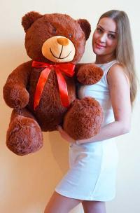Плюшевый медведь 110 см коричневый